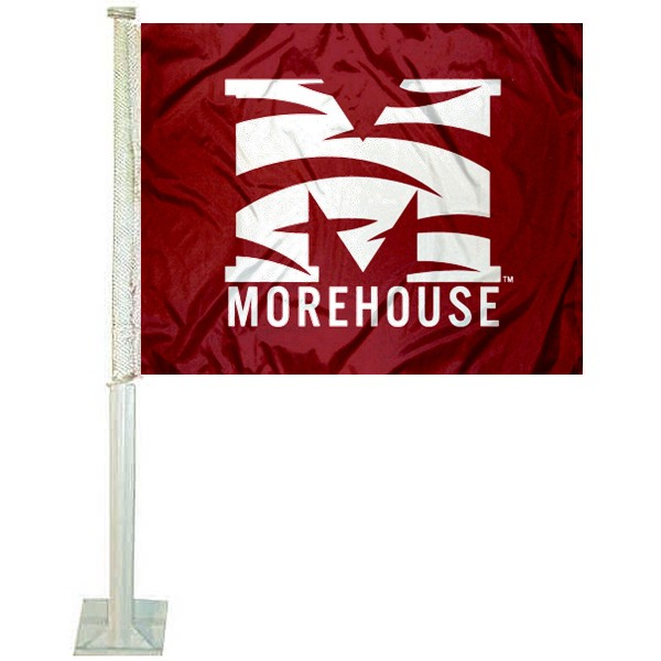 Morehouse Maroon Tigers Car Flag