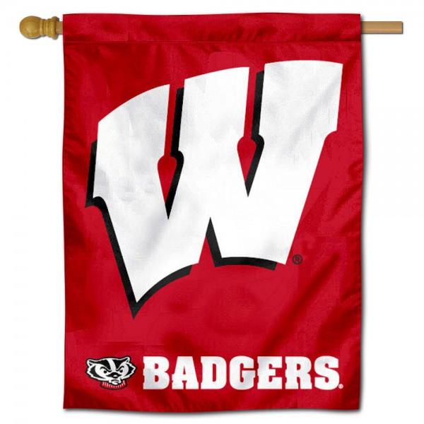 Motion W UW Badgers House Flag