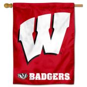 Motion W UW Badgers House Flag