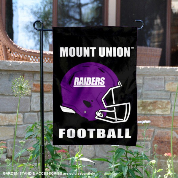 Mount Union Raiders Football Garden Flag