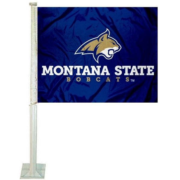 MSU Bobcats Car Flag