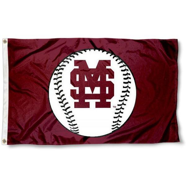 MSU Bulldogs Baseball Flag