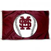 MSU Bulldogs Baseball Flag