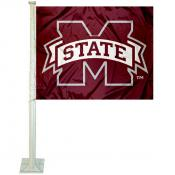 MSU Bulldogs Car Flag