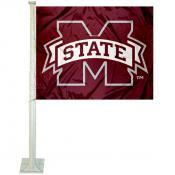 MSU Bulldogs Car Flag