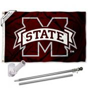 MSU Bulldogs Flag and Bracket Flagpole Kit