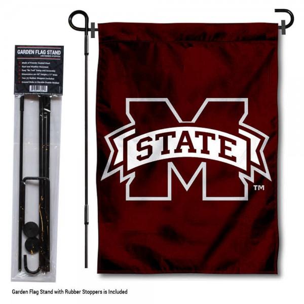 MSU Bulldogs Garden Flag and Holder