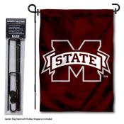 MSU Bulldogs Garden Flag and Holder