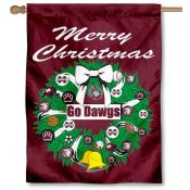 MSU Bulldogs Holiday Flag