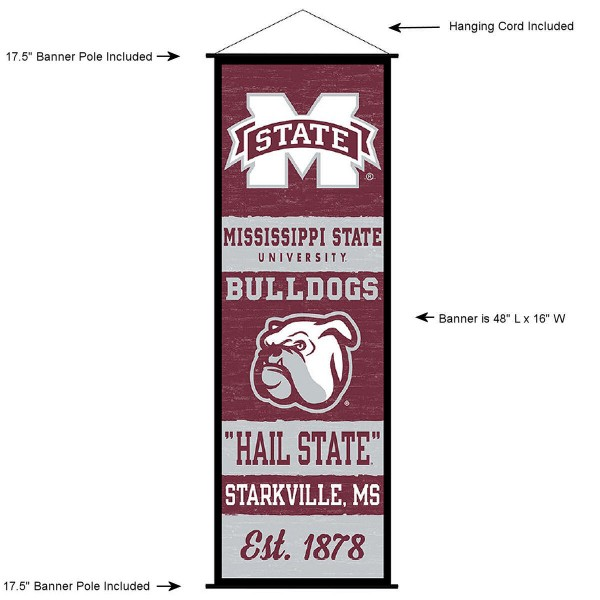 MSU Bulldogs Wall Banner and Door Scroll