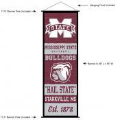 MSU Bulldogs Wall Banner and Door Scroll