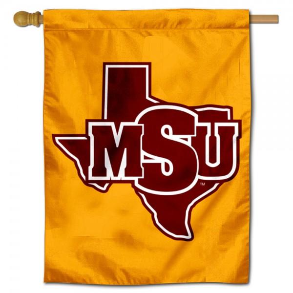 MSU Mustangs House Flag