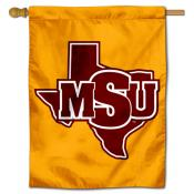 MSU Mustangs House Flag