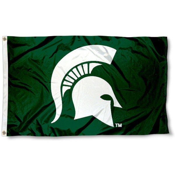 MSU Spartan Head Flag