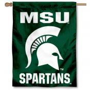 MSU Spartan Head House Flag