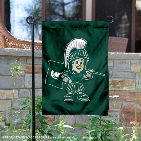 MSU Spartans Baby Sparty Garden Flag