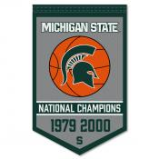 MSU Spartans College Basketball National Champions Banner