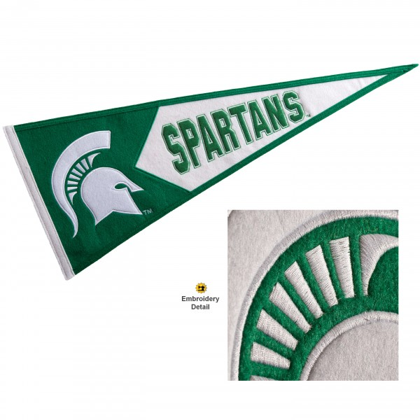 MSU Spartans Embroidered Wool Pennant