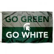MSU Spartans Go Green Go White Outdoor Flag