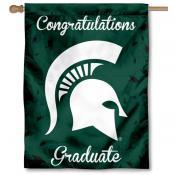 MSU Spartans Graduation Banner