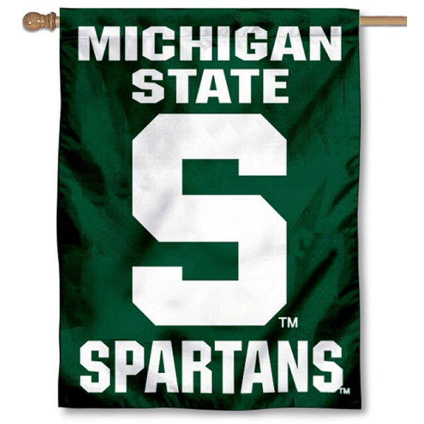MSU Spartans House Flag