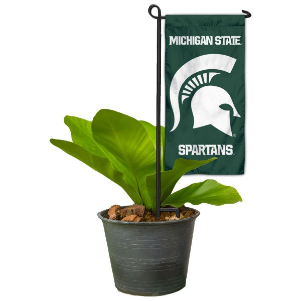 MSU Spartans Mini Garden Flag Marker