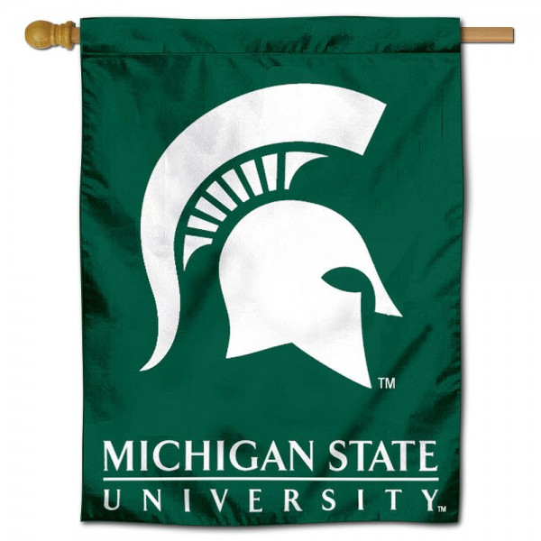 MSU Spartans Polyester House Flag