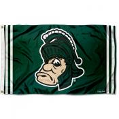 MSU Spartans Retro Vintage 3x5 Feet Banner Flag