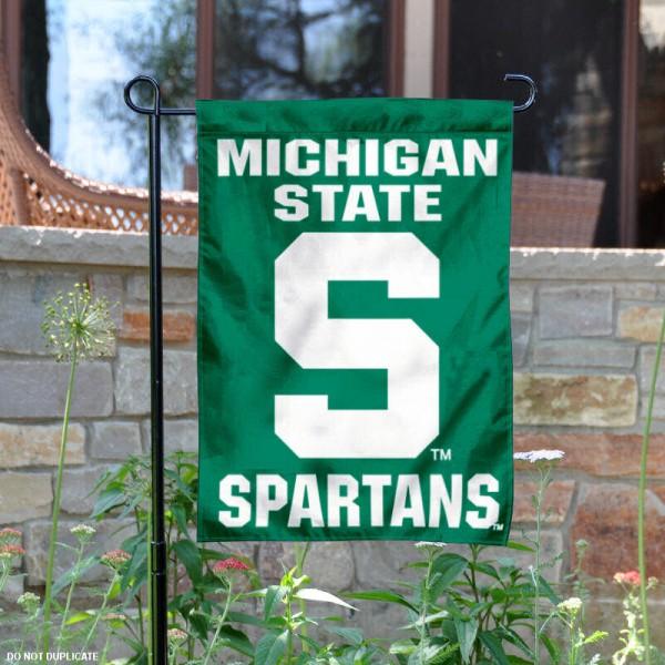 MSU Spartans S Garden Flag