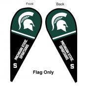 MSU Spartans Teardrop Flag