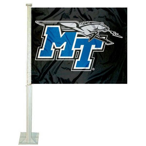 MTSU Blue Raiders Car Flag