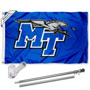 MTSU Blue Raiders Flag and Bracket Flagpole Set