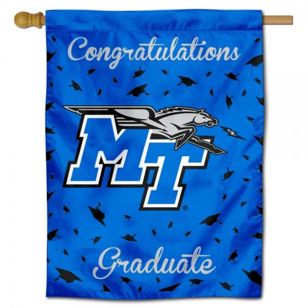 MTSU Blue Raiders Graduation Banner
