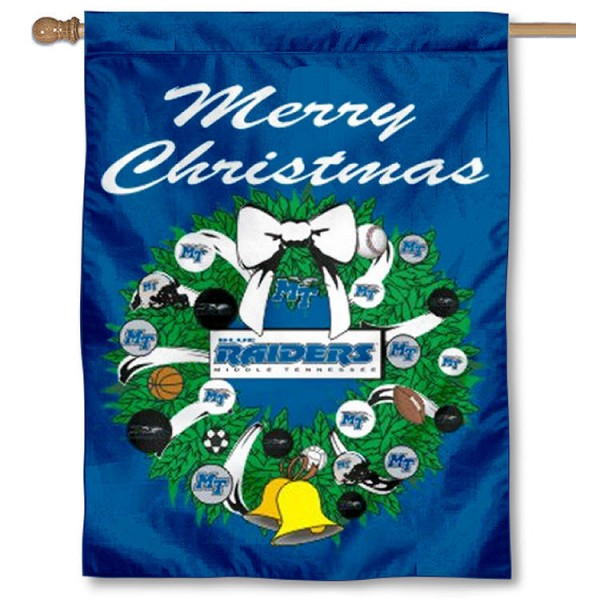 MTSU Blue Raiders Holiday Flag