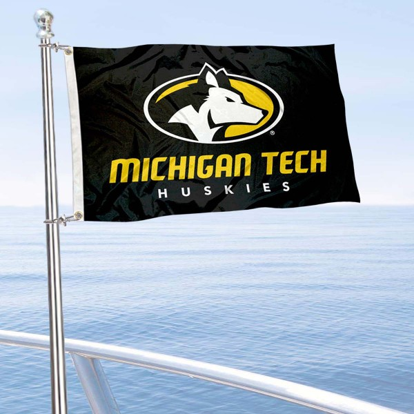 MTU Huskies Boat Nautical Flag