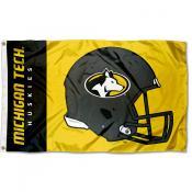 MTU Huskies Helmet Flag
