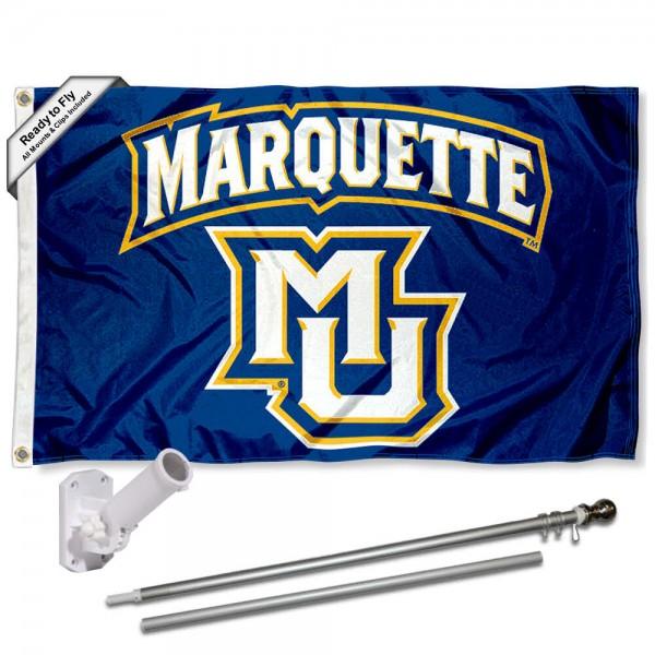 MU Golden Eagles Flag and Bracket Flagpole Kit