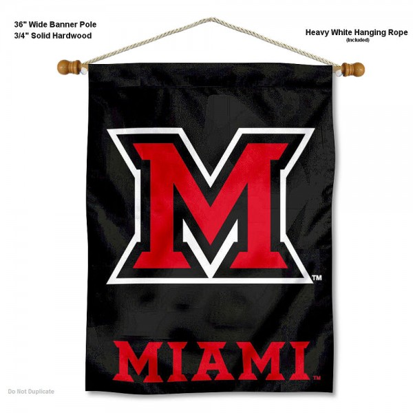 MU Redhawks Banner with Pole
