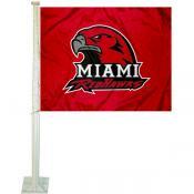 MU Redhawks Car Flag