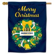 Murray State Racers Christmas Holiday House Flag