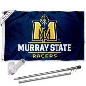 Murray State Racers Flag and Bracket Flagpole Set
