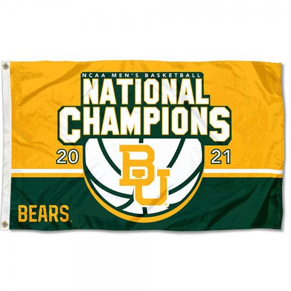 National Champions 2021 Mens Basketball Baylor BU Bears 3x5 Foot Flag