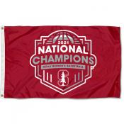 National Champions 2021 Womens Basketball Stanford Cardinal 3x5 Foot Flag