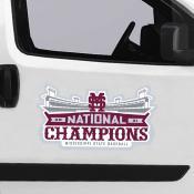National Champions Jumbo Logo Car Magnet for Mississippi State Bulldogs