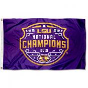 National Football Champions 2019 LSU Tigers 3x5 Foot Flag