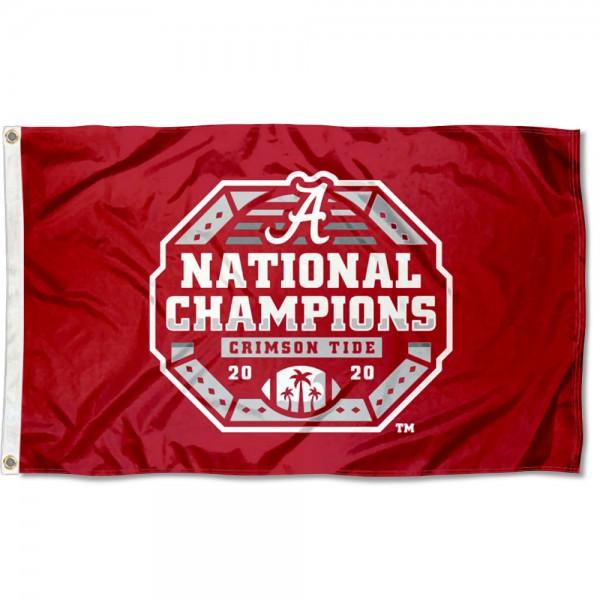 National Football Champions 2020 2021 Alabama Crimson Tide 3x5 Foot Flag