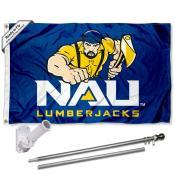NAU Lumberjacks Flag and Bracket Flagpole Kit