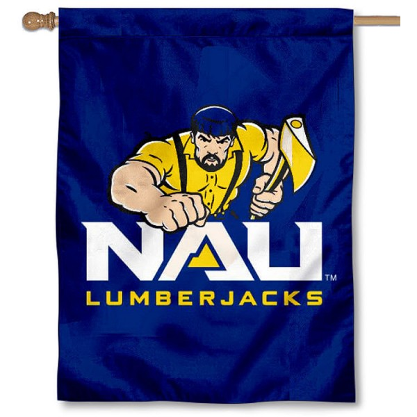 NAU Lumberjacks Logo House Flag