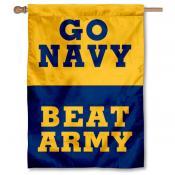Navy Beat Army House Flag