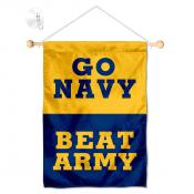 Navy beat Arrmy Window Hanging Banner with Suction Cup